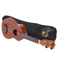 Wholesale KaKa KU MINI01 quot Ukelele Spruce Strings Sapele Soprano Ukulele Love Heart Sound Hole with Strap Lock Buttons and Thick Bag