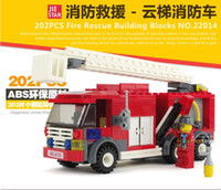 best toy fire truck - Fire Station Minifigure Ladder truck building blocks enlighten Educational Bricks Toys Best selling toys gifts