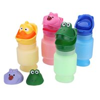 Wholesale 1 Set Potty Training Portable Travel Cartoon Urinal Stretch Car Toilet For Boy Girl Kids Color