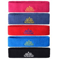 Wholesale pc Breathable Sweatband Headband for Women Yoga Gym Tennis Basketball Sports Running Men Soft Cotton Stretch HairBand