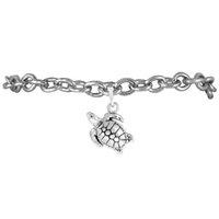 animals amphibians - Good Quality Fashion zinc alloy Rhodium Plated Amphibian Ovipara Tortoise animals pendant Charm rolo chain bracelets For Gift Party
