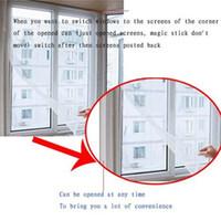 Nuevo hogar insecto de la mosca del insecto del mosquito Ventana acoplamiento de la red de la pantalla de la pantalla del protector de la cortina