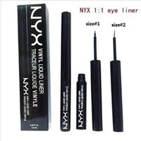 Wholesale 2016 hot sales NYX THE CURVE liquid Eyeliner FELT TIP LINER beauty meets function high quality waterproof cosmetics party queen makeup