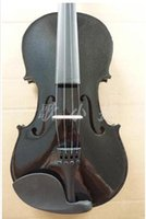 Wholesale Manufacturers selling overflow black wood violin with flash powder High quality handmake basswood violin send box rosin bow for beg