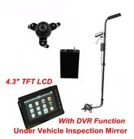 Wholesale V3D Under Vehicle Inspection Camera Recorder Bomb Detector Mirror With TFT LCD Screen and DVR Function