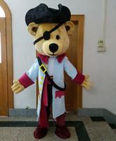 bears vikings - 0524 high quality adult The Vikings bear mascot costume with mini fan inside the head for sale