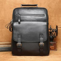 Wholesale Manufacturers men s leather shoulder baotou layer cowhide han edition computer bag fashion leisure travel business