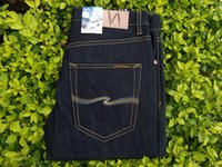 Wholesale Men s Nudie High Quality jeans Color Black Blue Thin Finn With Extra Size