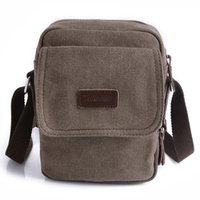 awesome luggage - Luggage Bags Handbags Gorgeous Men s Small Brown Vintage Canvas Shoulder Fanny Bag Messenger Awesome HW03026
