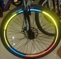 Wholesale Bicycle reflector Fluorescent MTB Bike Bicycle Sticker Cycling Wheel Rim Reflective Stickers Decal Accessories