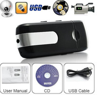 Cheap DHL or Fedex UPS 50pcs lot Spy USB Disk Cameras DVR Motion Detect Camera Cam Hidden Camera Mini DVR Video Recorder