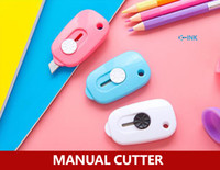 Wholesale Office Mini Manual Cutter Cute envelope opener Candy Color Letter Cutter Mini Paper Cutter Utility Knife