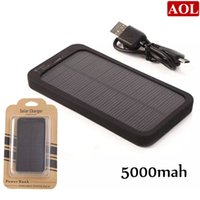 Wholesale Black Portable mAh Solar Panel Powered Back Up Battery Charger for Cell phone iphone Samsung Motorola MP3 MP4 etc Power Bank