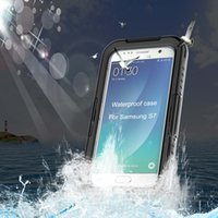 ans fittings - IP68 Waterproof Shockproof Phone Case Cover Front Back PC TPU Heavy Hybrid Swimming Drifting Case Protective For Samsung S7 ans S7 edge