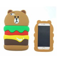 apples hamburg - For Cute D Cartoon Hamburg bear For iPhone S SE S quot s Plus quot Soft Silicone Phone Back Case Piece