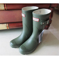 best warm boots - Stylish Women hunter Boot Welly Boots Best quanlity Ms glossy Hunter Wellington Rain Boots Winter Warm Black Rose Bottom size