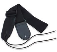 Wholesale 1Pcs straps Colour Black Electric guitar strap acoustic guitar bass strap guitar parts musical instruments accessories