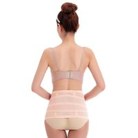 abdominal binder elastic - New Breathable Elastic Abdominal Binder Waist Trimmer Postpartum Recovery Waist Slimming Shaper Belt Breathable L