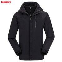 Wholesale waterproof thicken jakcet new travel ski outerwear coat sport fashion double layer in winter jacket men