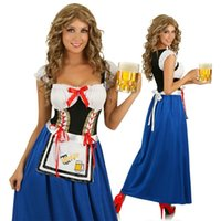 beer bavaria - New Adult Womens Sexy Halloween Party Germany Beer Bavaria Servant Maid Costume Outfit Fancy Waitress Cosplay Dresses Size M XL