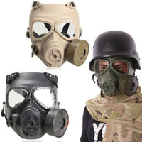 Wholesale CS Wargame Chemical Anti Dust Paint Full Face Gas Mask Respirator Antigas Mask
