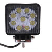 atv utv accessories - 27W LED Work Light V Offroad Vehicle ATV Lamp Tractor Truck Light Boat SUV UTV Jeep Car Roof Lights Spotlight Floodlight Bulb Accessory