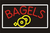 bagel shop - NEON SIGN For Bagels Bar cakes Food Wine Real GLASS Tube Beer PUB Restaurant Signboard store display Shop Light Signs quot
