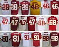 Wholesale 91 Ryan Kerrigan Pierre Garcon Matt Jones Chris Baker Brandon Scherff Junior Galette Red White New Football Jerseys