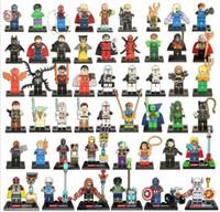 Wholesale Single Sale Super Heroes Avengers Justice LeagueBatman Harley Quinn Silver Surfer Building Blocks Model Bricks Toys