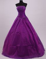 Wholesale Purple beauty Wedding Dresses Sexy Bridal Occasions A Line Skirts Sleeveless Off the Shoulder Sweetheart Vestidos de Noiva Natural