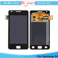 i9100 - No Dead Pixel LCD Assembly Display with Touch Screen Digitizer Replacement For Samsung Galaxy S2 i9100 I9105 DHL