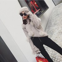 angora knit - Angora rabbit hair ball loose sweater Autumn Winter han edition leisure knit shirt sleeve blouse