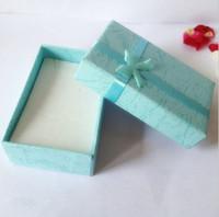 al por mayor paquete de regalo de joyería-Pendientes Cajas de regalo de collar de collar de anillos 5 * 8 * 2.6 cm nudo de joyería de embalaje conjunto de joyería multicolor conjuntos de joyas