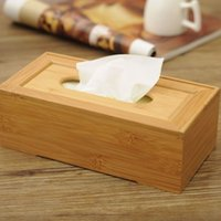 Wholesale Moso Bamboo Bamboo Wooden Tissue Boxes Design Box Suitable For Home Restaurant drawing room