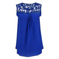 Wholesale Women Chiffon Blouses New Fashion Hollow Tops Loose Crochet Lace T Shirts For Women Plus Size XL XL