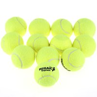 Wholesale High Elasticity set Training Tennis Ball Durable Natural Rubber Tennis Ball Wear Resistant Yellow Tennis Ball Bag Package