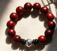 bead retailers - DIY India old material wood grain lobular red sandalwood beads bracelet jewelry and retailer