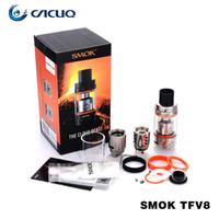 Wholesale Smok TFV8 Atomizer Smoktech ml TFV8 Cloud Beast Tank With V8 T8 V8 Q4 Coil Head Best Updated TFV4 Tank Original