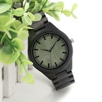 Wholesale Classic Simple Eony Wooden Watch with wood Straps Japanese Quartz Movement Watches Accept Customization
