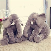 baby playmate - 1pcs big size cm Infant Soft Appease Elephant Playmate Calm Doll Baby Toys Elephant Pillow Plush Toys Stuffed Doll