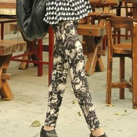 Wholesale Popular sexy Leggings clothes Punk Style Women ankle length Skeleton Skull legging Halloween Club Party Best Gifts for Female