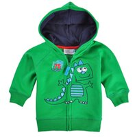 baby clothes australia - Australia Retail new children s Dinosaur wear baby boys sweater Kids Spring hoodies cartoon children clothing outerwear
