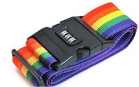 Wholesale Rainbow Travel Luggage Suitcase Strap Luggage suitcase Secure Lock Safe Belt Strap m baggage Belt H210456