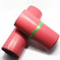 Wholesale-17 * 30cm 50Pcs / Lot Express Courier Mailer envase de bolsa rosado suave anuncios publicitarios de plástico bolsas de polietileno de correo paquete Pocket Express Envelope