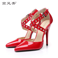 Wholesale 12cm multicolor paint heels for women s shoes sexy stage of super high heels alternative big yards for women s shoes banquet single shoes