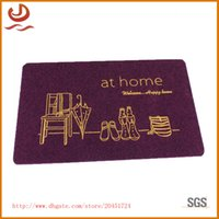 advertising floor mats - Comfortable and soft TPR printing floor pad anti dirt doormat can be customized advertising Logo carpet mat