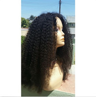 jerry curl arrival curl wigs - New arrival full lace indian hair wigs jerry curl natural hairline front lace wigs with baby hair