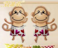 balloon animals monkey - 2017 The new boom ball ornaments cartoon new cartoon balloon aluminum balloons balloon children s toy monkey