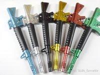 Wholesale novel pen gun shape blue refill ball point pen mm
