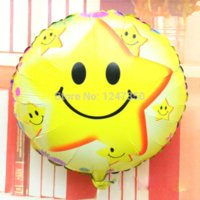 air balloon festival - foil balloons birthday party decorations globes supplies inch round happy smile face helium air balls festival holiday pc set